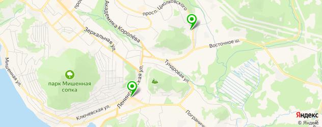 прачечные на карте Петропавловска-Камчатского