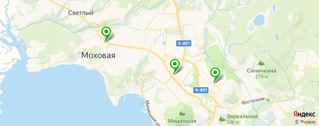 кинотеатры на карте Петропавловска-Камчатского