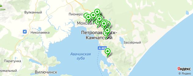 Авто на карте Петропавловска-Камчатского