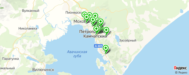 бары на карте Петропавловска-Камчатского