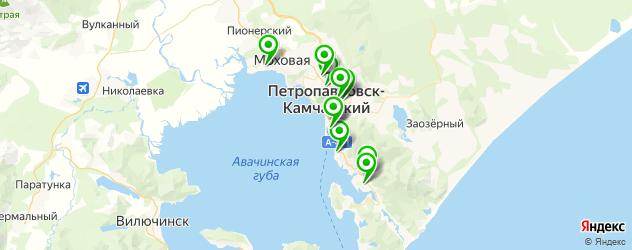 больницы на карте Петропавловска-Камчатского