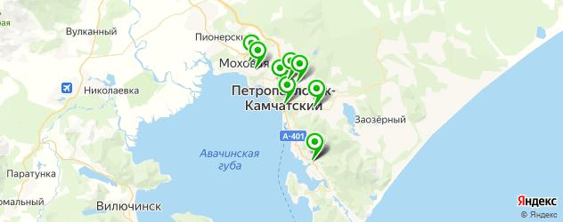 бары с танцполом на карте Петропавловска-Камчатского
