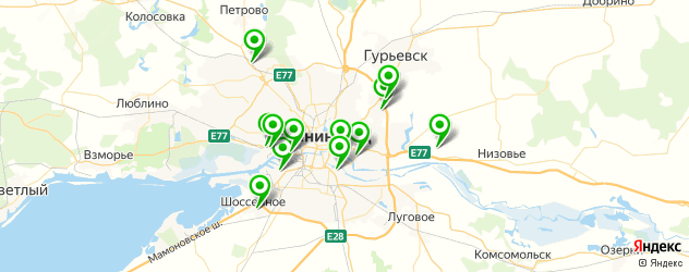 авторазборки на карте Калининграда
