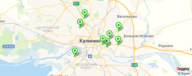 магазины запчастей Рено на карте Калининграда