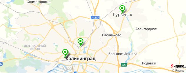детские больницы на карте Калининграда