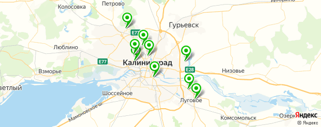 амбулатории на карте Калининграда