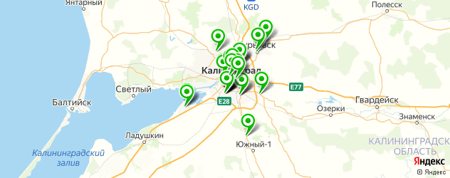 больницы на карте Калининграда