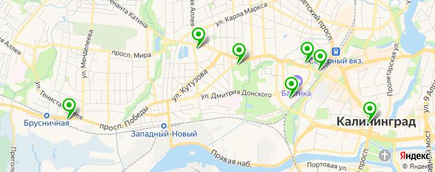 театры на карте Калининграда