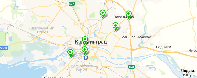 ремонт корейских автомобилей на карте Калининграда