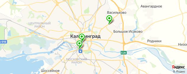 Ремонт электрики Рено на карте Калининграда