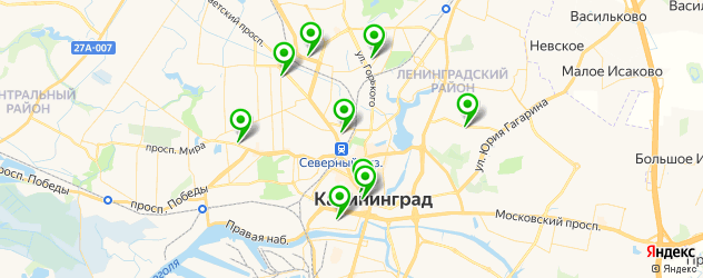 Доставка шашлыка на карте Калининграда