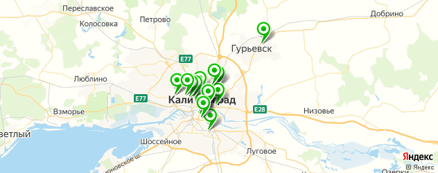 колледжи на карте Калининграда