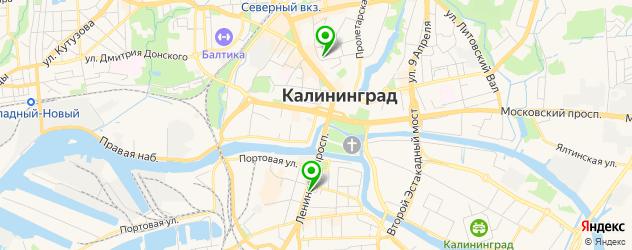 модельные агентства на карте Калининграда
