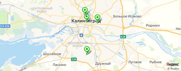 японские рестораны на карте Калининграда