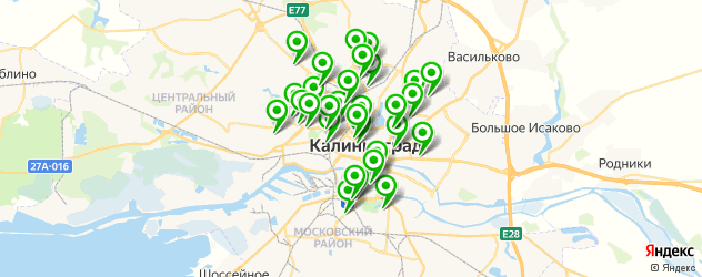 стильная стрижка на карте Калининграда