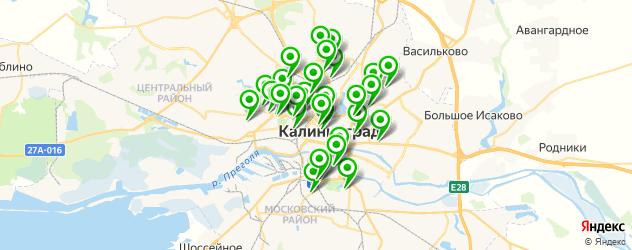 парикмахерские на карте Калининграда
