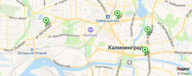 картинные галереи на карте Калининграда
