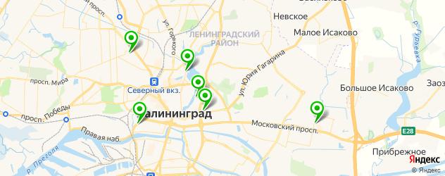 стоматологические поликлиники на карте Калининграда