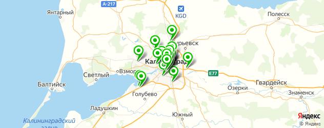 рестораны с живой музыкой на карте Калининграда