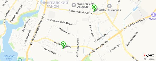 перешив шуб на карте Калининграда