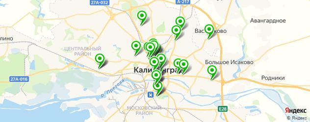школы танцев на карте Калининграда