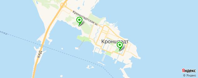 фитнесы с бассейном на карте Кронштадта
