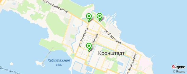 кафе с живой музыкой на карте Кронштадта
