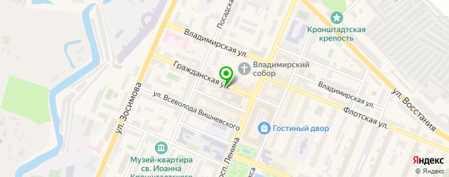 букмекерские конторы на карте Кронштадта