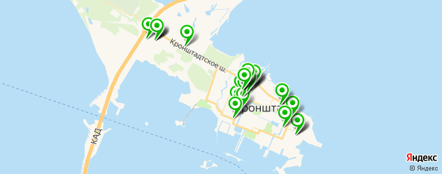банкоматы на карте Кронштадта
