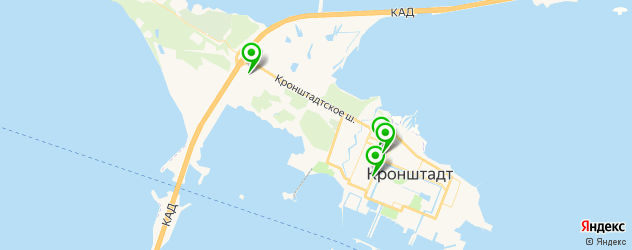 кофейни на карте Кронштадта
