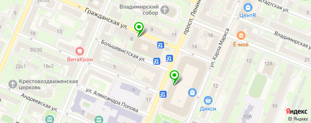 Доставка еды на карте Кронштадта