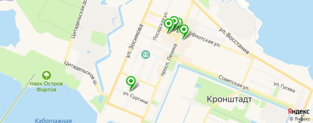 компьютерные помощи на карте Кронштадта