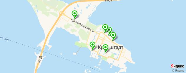 шиномонтажи на карте Кронштадта