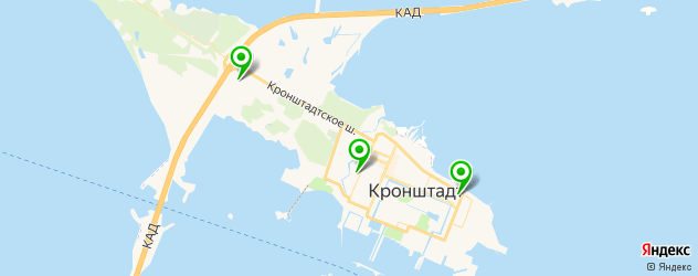 поликлиники на карте Кронштадта