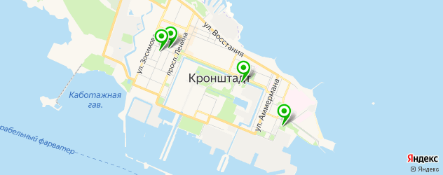 музеи на карте Кронштадта
