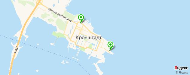 спортивные секции на карте Кронштадта