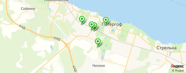 магазины запчастей на карте Петергофа