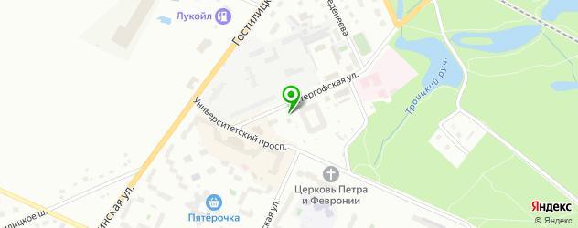 пиццерии на карте Петергофа