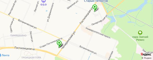 женские фитнес-клубы на карте Петергофа
