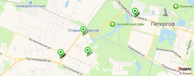 фитнес-клубы на карте Петергофа