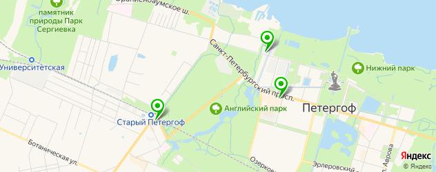 типографии на карте Петергофа