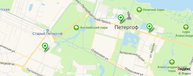 ломбарды на карте Петергофа
