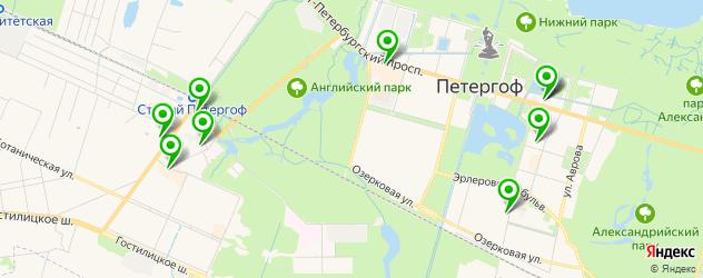 обувные мастерские на карте Петергофа
