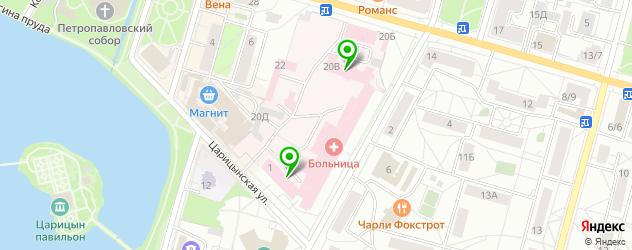 диагностические центры на карте Петергофа