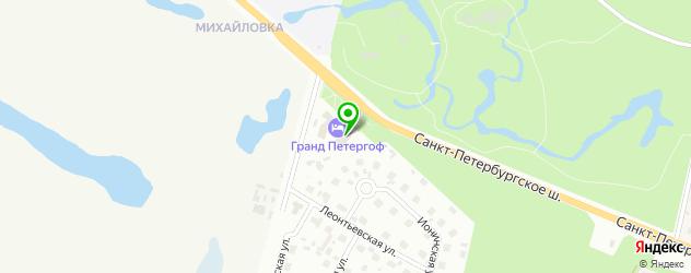 СПА отель на карте Петергофа
