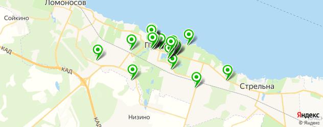 Бытовые услуги на карте Петергофа