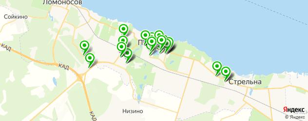 банкоматы на карте Петергофа