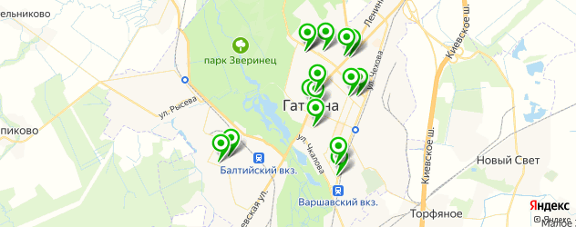стоматологические клиники на карте Гатчины