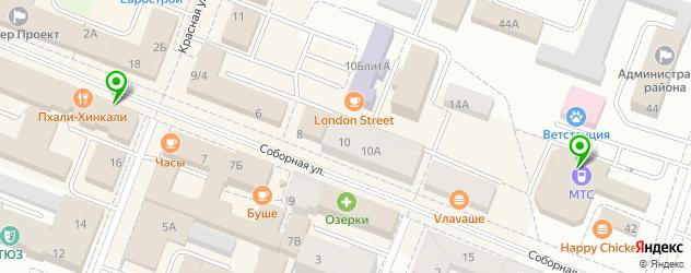 вегетарианские кафе на карте Гатчины