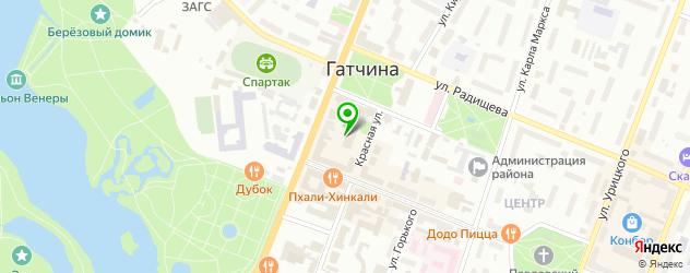 часовые мастерские на карте Гатчины